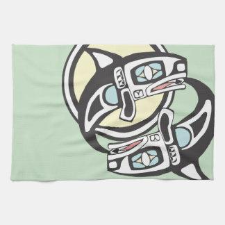 Orca Circle Tea Towel