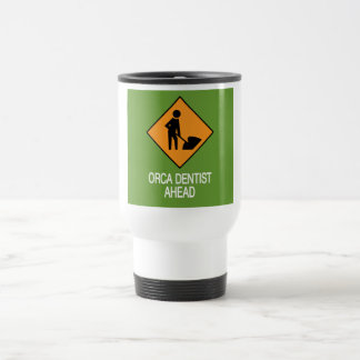 Orca Dentist this way Travel Mug