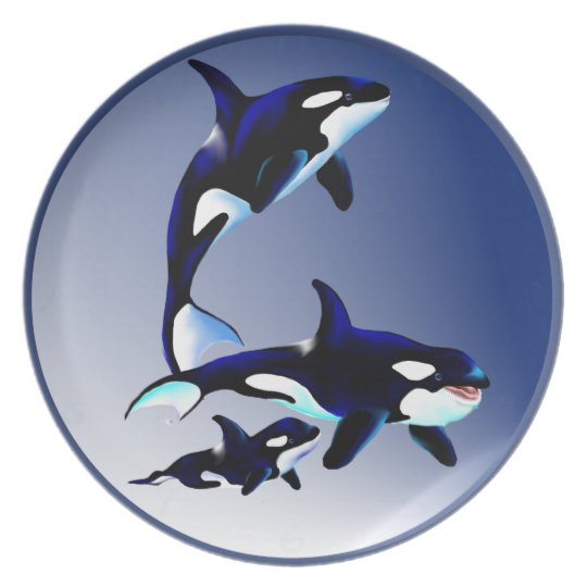 Orca Family Plate