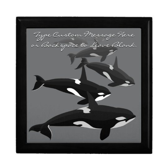 Orca Gift Box Personalise Killer Whale Jewellery