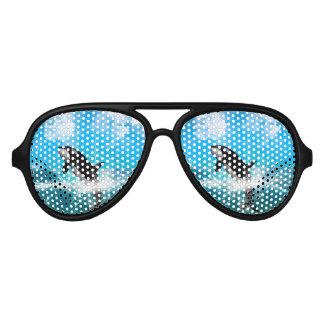 Orca jumping aviator sunglasses