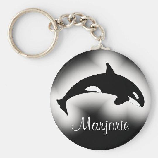 Orca Killer Whale Black and White Name Key