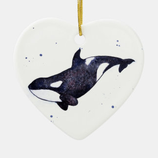 Orca Killer whale illustration Christmas Ornament