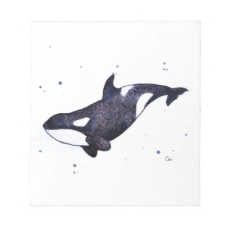 Orca Killer whale illustration Notepad