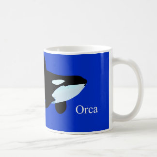orca killer whale underwater graphic txt coffee mug
