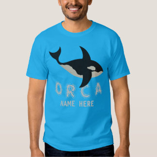 Orca Leather Look Choose Your Side Manly Animals Tshirt