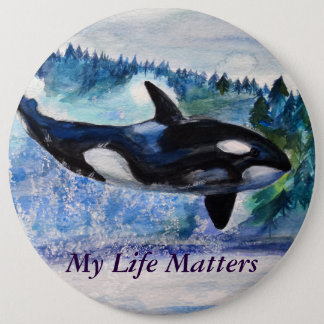 Orca lovers Nature friedly  Badge
