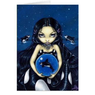 """Orca Magic"" Greeting Card"