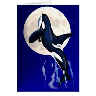 Orca Moon Card