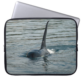 Orca on the hunt laptop computer sleeves