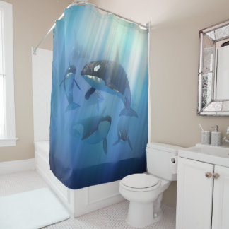 Orca Pod Shower Curtain