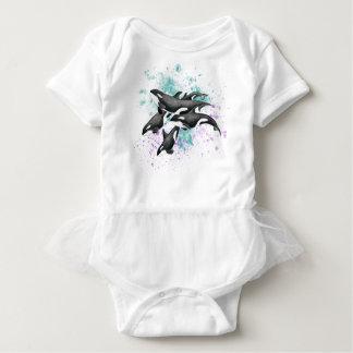 orca pod splash color baby bodysuit
