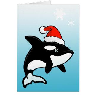 Orca Santa Greeting Card