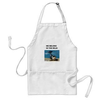 Orca we belong in the wild design standard apron