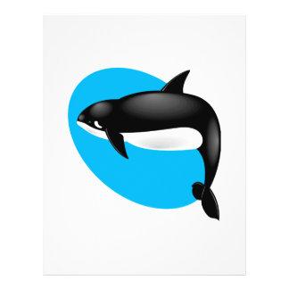 orca whale 21.5 cm x 28 cm flyer