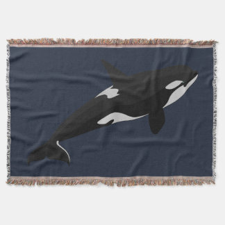Orca Whale Blanket Killer Whale Art Throw Blankets