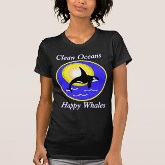 Orca Whale Clean Oceans Happy Whales T-Shirt