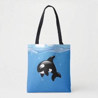 Orca Whale in Ocean Tote Bag