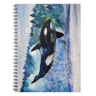 Orca Whale Killer Watercolor  Notebook