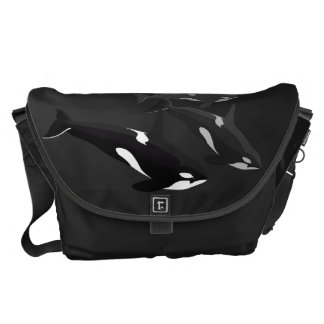 Orca Whale Messenger Bag Killer Whale Travel Bag