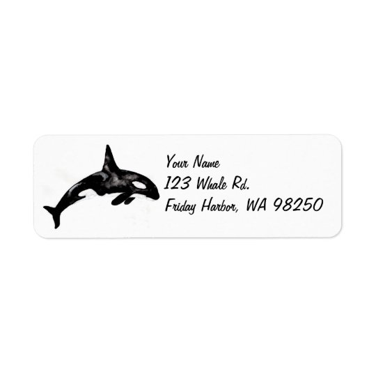 Orca Whale Return Address Label