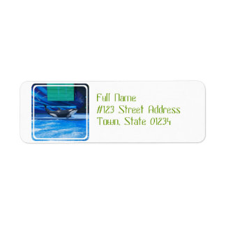 Orca Whale Showing Off Return Address Label