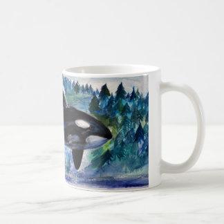 Orca Whale Watercolor Art Mug