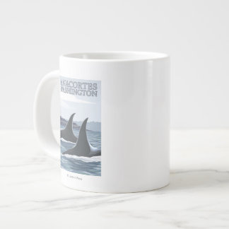 Orca Whales #1 - Anacortes, Washington Large Coffee Mug