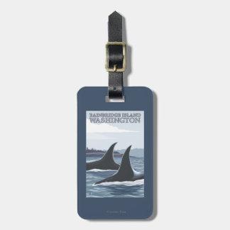 Orca Whales #1 - Bainbridge Island, Washington Bag Tag