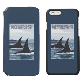 Orca Whales #1 - Bainbridge Island, Washington Incipio Watson™ iPhone 6 Wallet Case