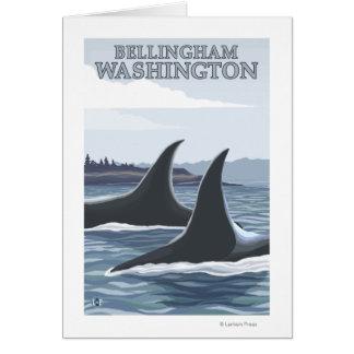 Orca Whales #1 - Bellingham, Washington Greeting Card