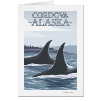 Orca Whales #1 - Cordova, Alaska Greeting Cards