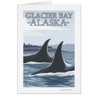Orca Whales #1 - Glacier Bay, Alaska Greeting Cards