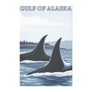Orca Whales #1 - Gulf of Alaska Canvas Print