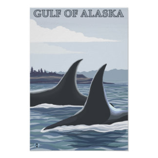 Orca Whales #1 - Gulf of Alaska Poster