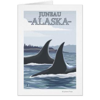 Orca Whales #1 - Juneau, Alaska Greeting Cards
