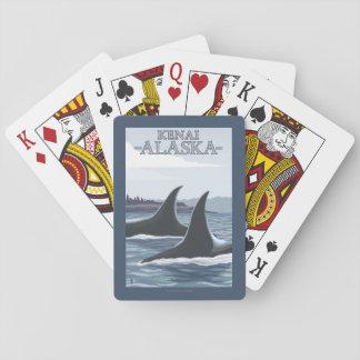 Orca Whales #1 - Kenai, Alaska Playing Cards
