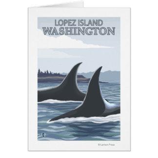 Orca Whales #1 - Lopez, Washington Card
