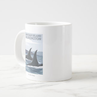 Orca Whales #1 - San Juan Island, Washington Large Coffee Mug