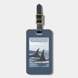 Orca Whales #1 - San Juan Island, Washington Luggage Tag