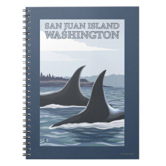 Orca Whales #1 - San Juan Island, Washington Notebook