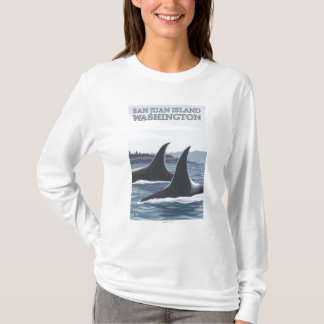 Orca Whales #1 - San Juan Island, Washington T-Shirt