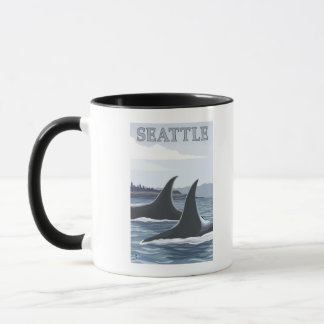 Orca Whales #1 - Seattle, Washington Mug