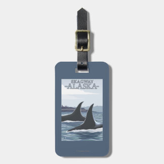 Orca Whales #1 - Skagway, Alaska Bag Tag