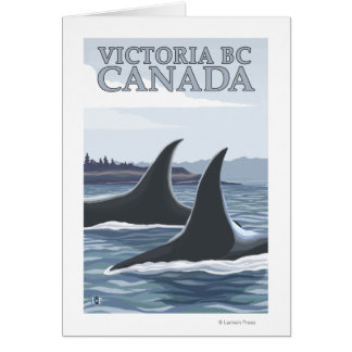 Orca Whales #1 - Victoria, BC Canada Greeting Card