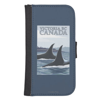 Orca Whales #1 - Victoria, BC Canada Samsung S4 Wallet Case