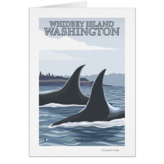 Orca Whales #1 - Whidbey, Washington Cards