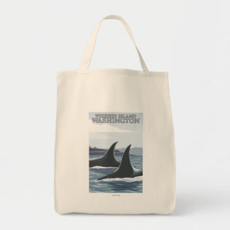 Orca Whales #1 - Whidbey, Washington Tote Bag