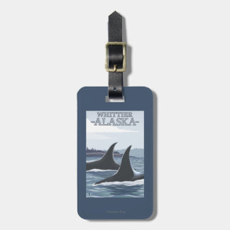 Orca Whales #1 - Whittier, Alaska Luggage Tag