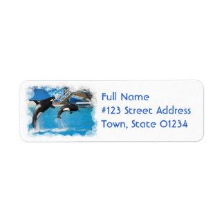 Orca Whales Return Address Label